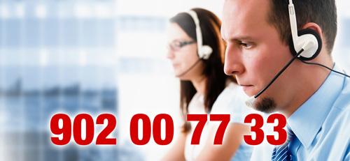 Telefonistas y número de teléfono de Destrupack