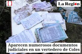 Documentacion judicianal abandonada